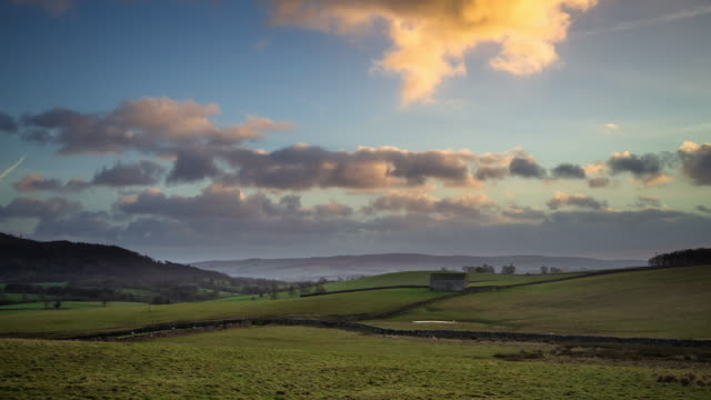 rolling yorkshire rural landscape - time lapse - rustic stock videos & royalty-free footage