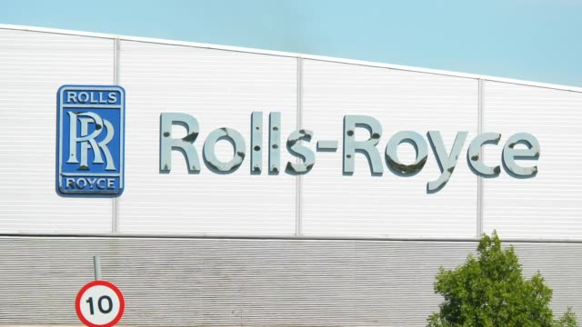 rolls royce factory in filton bristol, job cuts expected as aerospace industry sees losses - rolls royce stock videos & royalty-free footage