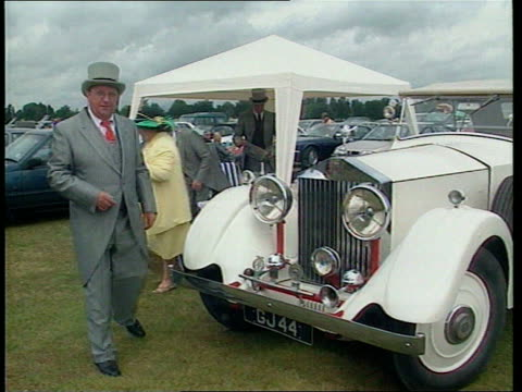 rolls royce for sale lib berks ascot ext people picnicing under awning erected next to vintage white rolls royce - awning stock videos and b-roll footage