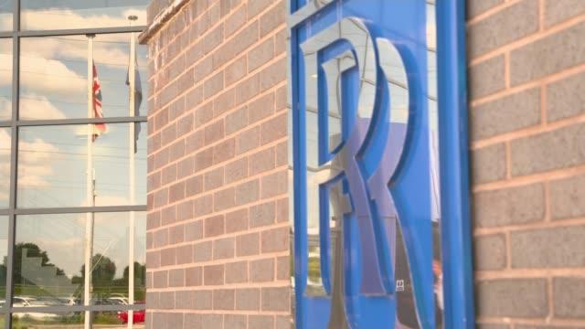 stockvideo's en b-roll-footage met rollsroyce engineering to cut 4600 jobs uk derby rollsroyce job losses rollsroyce hq warren east intv derbyshire derby ext gvs rolls royce factory... - rolls royce