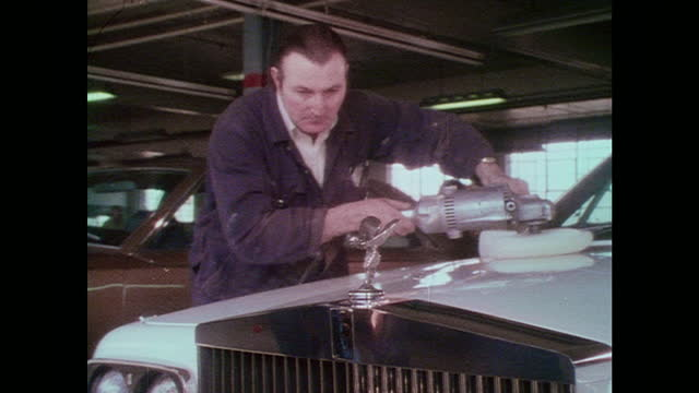 rolls-royce paint and buffing montage - 1976 stock videos & royalty-free footage