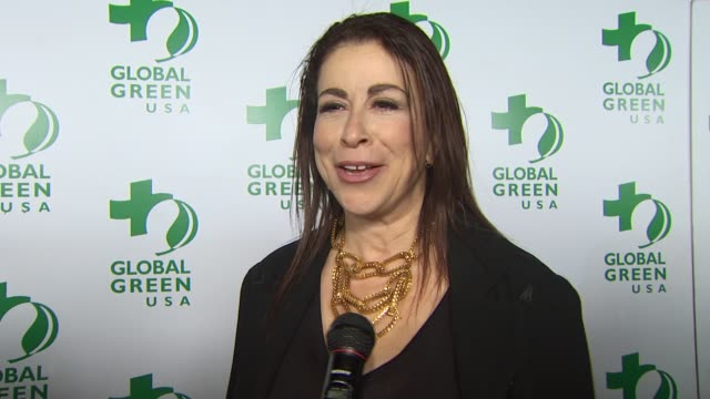 roma maffia on being a part of the night, the green movement, the earthquake in chile at the global green usa's 7th annual pre-oscar party at... - oscar party stock videos & royalty-free footage