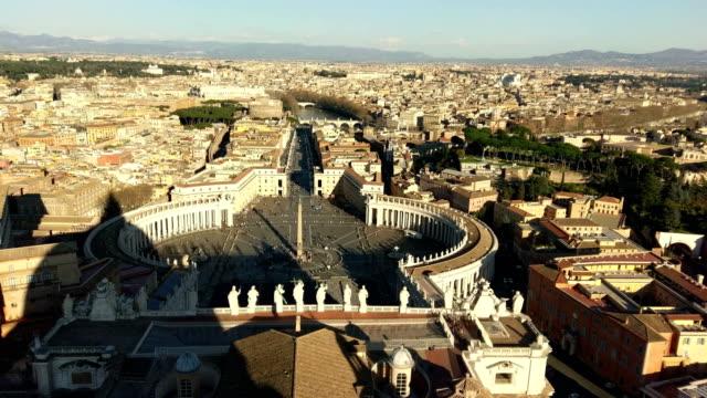 roma rome vatican vaticano video cupula sant pedro - st peter's square stock videos & royalty-free footage