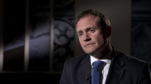 roman abramovich granted israeli citizenship after uk visa delay london int tom tugendhat mp interview sot it's up to the israeli gvt who they give... - individual event stock videos & royalty-free footage