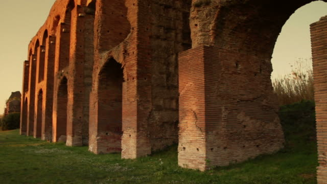 roman aqueduct - aqueduct stock videos and b-roll footage