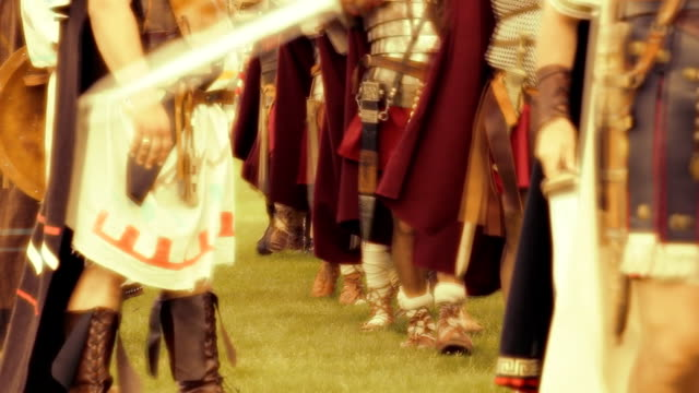 stockvideo's en b-roll-footage met hd roman army - background squid - army