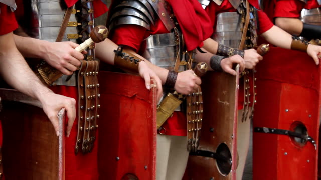 hd-roman army-detail - army stock-videos und b-roll-filmmaterial
