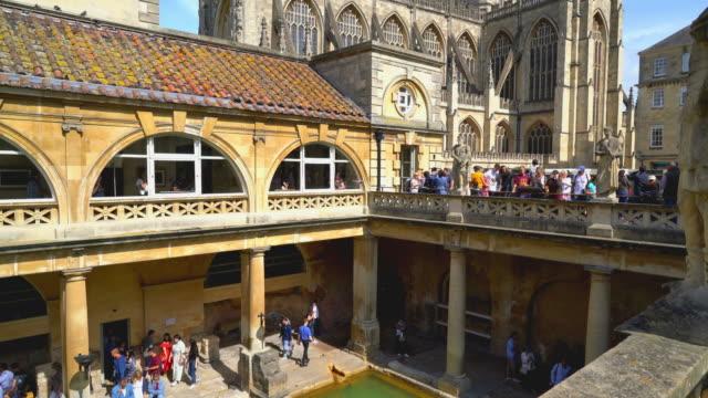 roman bath in bath ,united kingdom - bathhouse stock videos & royalty-free footage