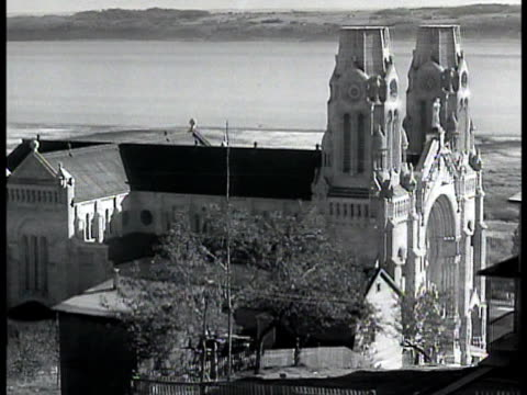 roman catholic cathedral int cathedral w/ people sitting in pews religious procession archbishop clergy - 1943 stock videos and b-roll footage