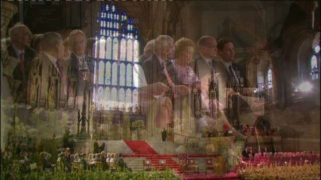 cardinal cormac murphy-o'connor dies; lib / 17.9.2010 westminster hall: westrminster hall laid out for a speech from pope benedict xvi various of... - cormac murphy o'connor stock videos & royalty-free footage