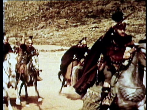 1964 reenactment ms ts roman cavalry charge  - roman soldier stock videos and b-roll footage