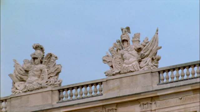 zi, cu, roman empire insignia on top of palace of versailles, france - versailles stock videos and b-roll footage