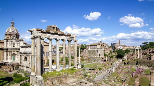 Roman Forum 4K time lapse, Rome, Italy.