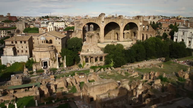 roman forum and coliseum from the palatine hill - roman stock videos and b-roll footage