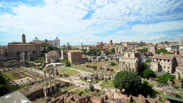 roman forum in rome - temple building stock videos & royalty-free footage