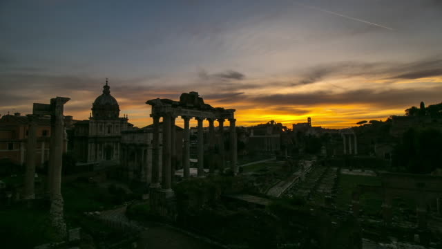 roman forum landmark - roman stock videos and b-roll footage