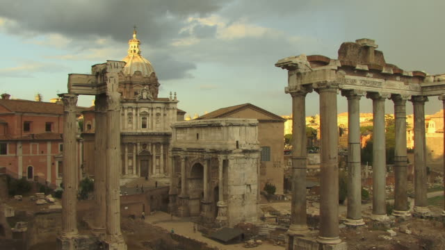 ws, roman forum, rome, italy - architrav stock-videos und b-roll-filmmaterial