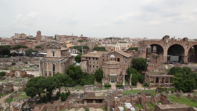 Roman Forum (Forum Romanum), Temple of Antoninus and Faustina, Temple of Divus Romulus, Rome, Italy