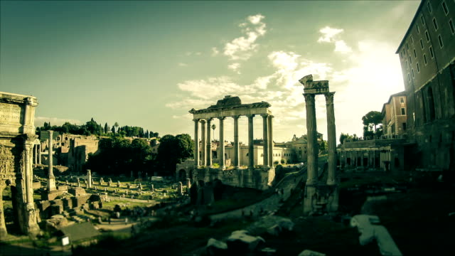 roman forum timelapse at sunset video hd - ancient rome stock videos & royalty-free footage
