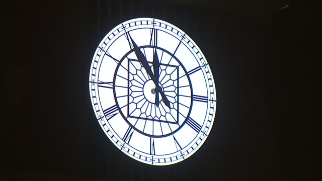 roman numeral clock hand moving to twelve o'clock - roman numeral stock videos & royalty-free footage
