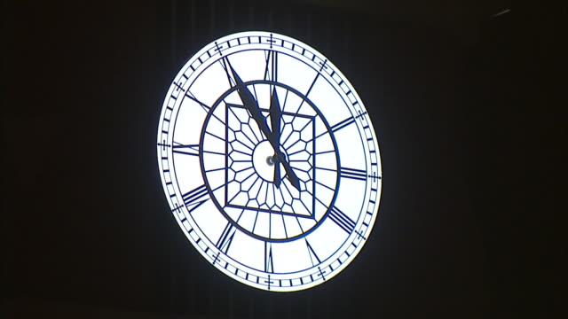 Roman Numeral Clock hand moving to twelve o'clock