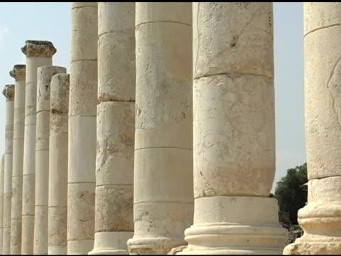 roman pillars - classical style stock videos & royalty-free footage