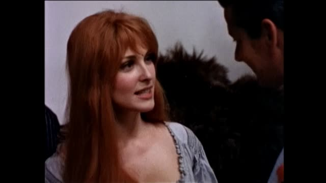 roman polanski and sharon tate are on the london set of the warner bros. motion picture the fearless vampire killers. vampire hunter professor... - warner bros stock videos & royalty-free footage