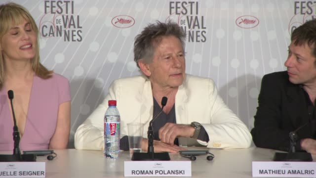 stockvideo's en b-roll-footage met interview roman polanski on his future projects at 'venus in fur' press conference on may 25 2013 in cannes france - roman polanski
