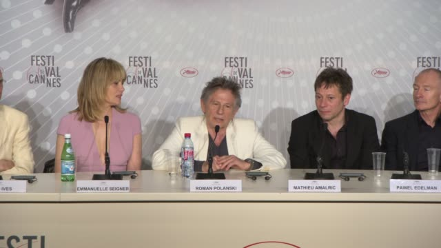 stockvideo's en b-roll-footage met interview roman polanski on the challenge of working only with two actors at 'venus in fur' press conference on may 25 2013 in cannes france - roman polanski