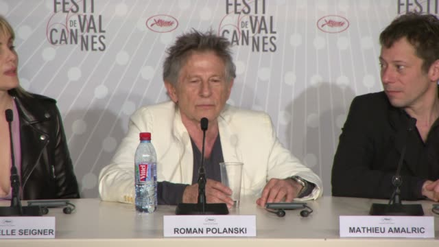 stockvideo's en b-roll-footage met interview roman polanski on what cannes means to him at 'venus in fur' press conference on may 25 2013 in cannes france - roman polanski