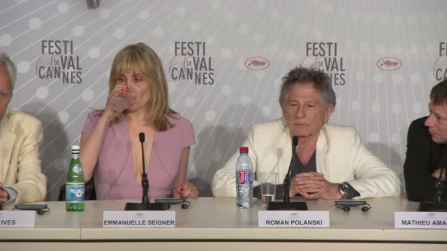 stockvideo's en b-roll-footage met interview roman polanski on working in theatre at 'venus in fur' press conference on may 25 2013 in cannes france - roman polanski