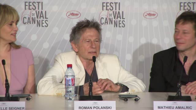 stockvideo's en b-roll-footage met interview roman polanski on working with his actors at 'venus in fur' press conference on may 25 2013 in cannes france - roman polanski