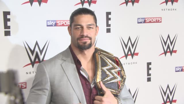 Roman Reigns at WWE RAW Pre Show Party on April 18 2016 in London England