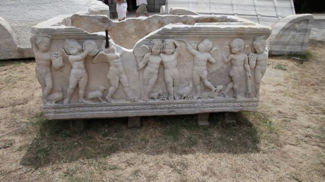 roman sarcophagi, salona - roman stock videos and b-roll footage