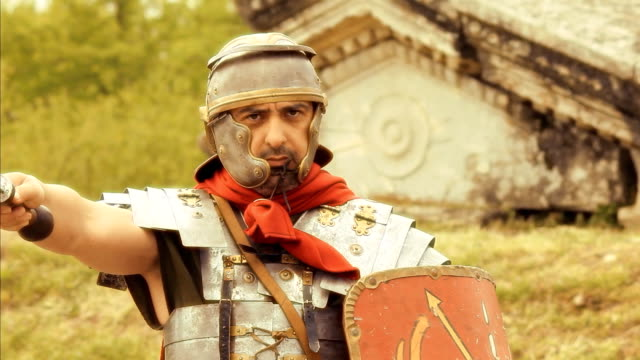 roman soldier - roman stock videos and b-roll footage