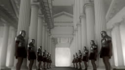 Roman Soldiers Wearing Armor Lined up in a Palace