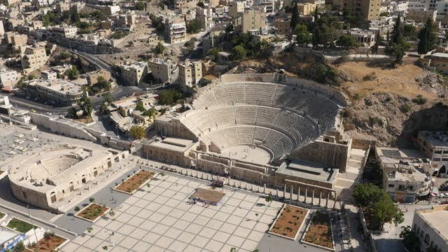 roman theater in amman, jordan - amphitheatre stock videos & royalty-free footage