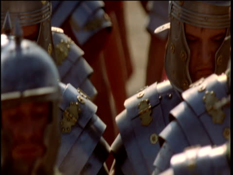 roman troops approach on road hungary - roman soldier stock videos and b-roll footage