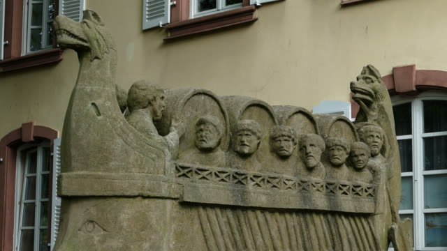 Roman Wine Ship in Neumagen-Dhron, Rhineland-Palatinate, Germany, Europe