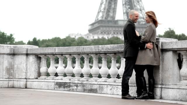 romance paris - eiffel tower paris stock videos & royalty-free footage