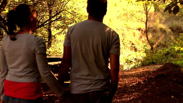 Romance Walking Autumn