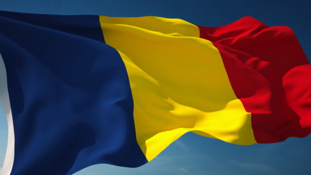 4k romania flag - loopable - national flag stock videos & royalty-free footage