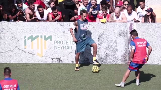 romania won the neymar jr five a side on saturday one of the world's largest amateur football tournaments in the world which took place in praia... - neymar da silva stock videos & royalty-free footage