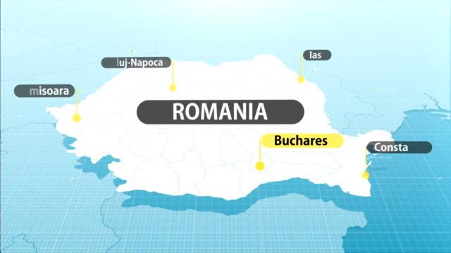 rumänische karte - romania stock-videos und b-roll-filmmaterial