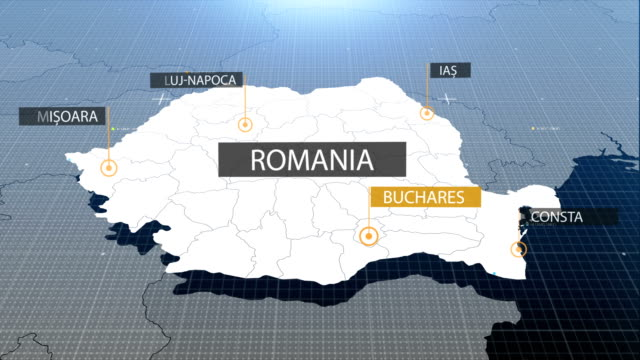 romanian map with label then with out label - romania stock videos and b-roll footage