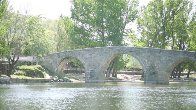 Romanic bridge in Navaluenga, Avila province