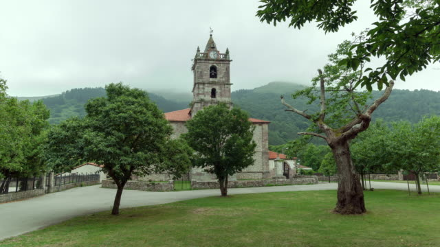 Romanic Church of Teran town, Santander, Cantabria - Time lapse