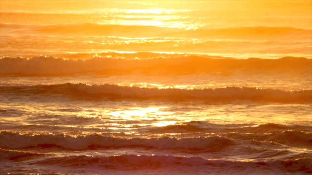 romantic beach sunset - wave pattern stock videos & royalty-free footage