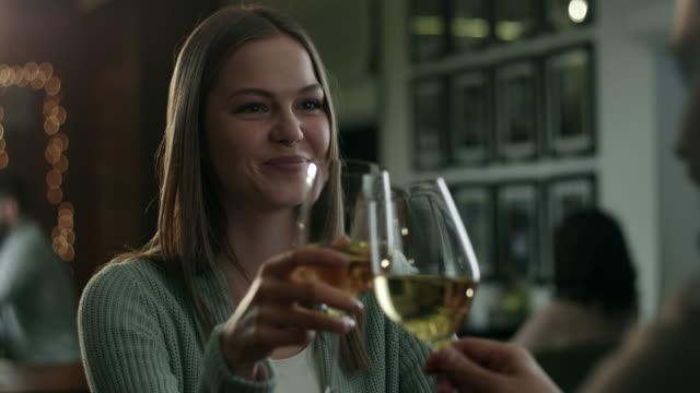 Romantic Couple In drinking Wine