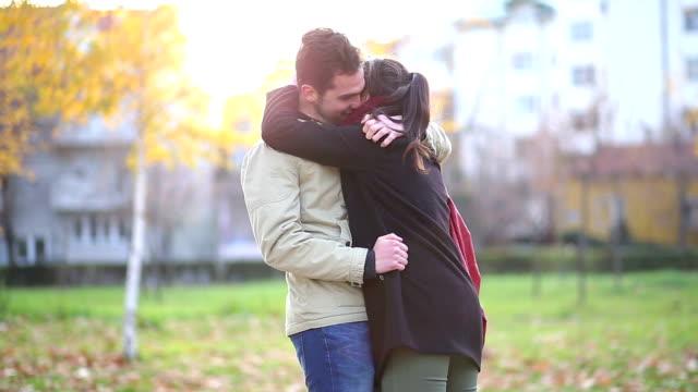 Romantic Couple In Loving Hug